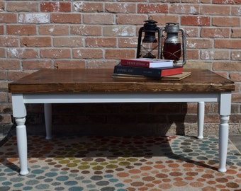Vintage style cottage coffee table