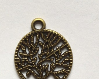 charm tree of life silver-bronze