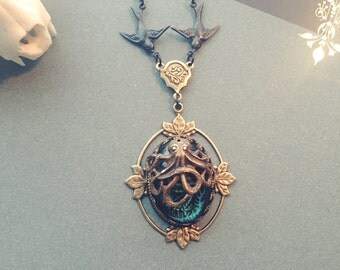 As above so below, Cthulhu necklace with brass chain