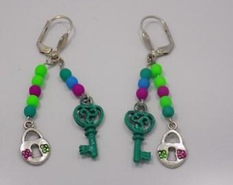 Handmade glow in dark earrings