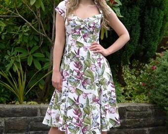 Summer Dress 50s Retro Style Tea Dress Hummingbird
