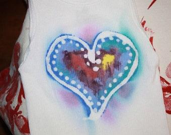 Child's Tank top or Sleeveless Onesie Batik Heart