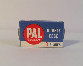 Three Boxes of Vintage Box Pal Double Edge Blades Filled with 3 Blades in Each Box
