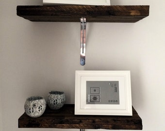 Upcycling Wall shelves solid wood, industrial look, vintage, retro