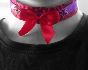 Red Bow Party Choker