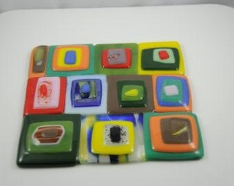 Decorative Fused Glass Tile