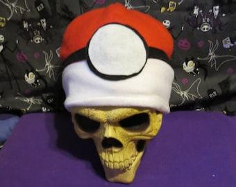 Pokeball Inspired Halloween Beanie Hat