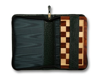Leather Magnetic Travel Chess Case