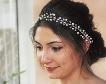 Bridal hair piece Bridal headpiece Wedding headpiece Bridal hair vine Bridal hair accessories Pearl hair piece Wedding hair piece