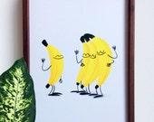 Bananas, A4 Print