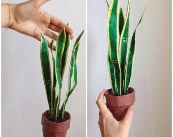 Paper Plant  //  Snake  //  Black Gold