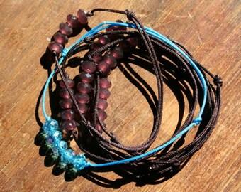 Bracelet links sliding beads swarovski