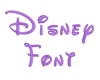 2 Size Small Disney Font Embroidery Fonts BX  9 Formats Embroidery Pattern Machine BX Embroidery Fonts PES