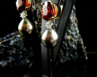Spessartine earrings