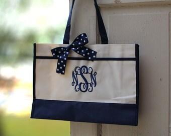 Bridesmaid Gift- Personalized Bridemaid Tote - Wedding Party Gift - Maid of Honor-Personalized Tote Bag Bridemaid Gift (Set of 2)