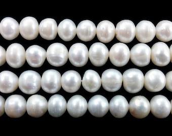 Natural White Potato Freshwater Pearl Beads