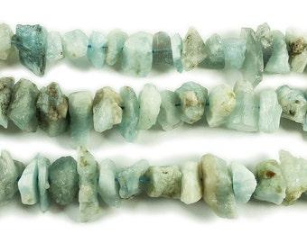 Aquamarine Rough Chips Gemstone Beads