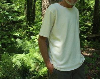 cannabis sativa / hemp clothing - mens t-shirt - 100% natural hemp and organic cotton - custom made to order