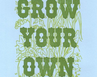Grow your Own Letterpress Print