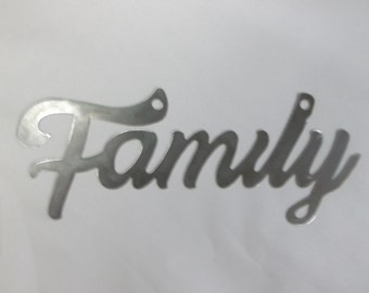 Family sign ~ metal art ~ wall decor ~ wall hanging ~ free shipping