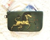Unicorn Phone Case Pencil Case forest Green Leather