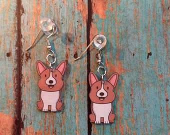 Handcrafted Welsh Corgi Earrings