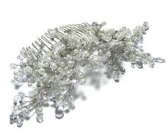 Wedding hair comb, Pearl hair comb, Bridal hair comb, Vine Hair Comb, Statement Hair Comb, Butterfly Hair Comb, Bridal Hair Accessories