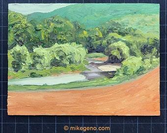 Landscape oil painting - original painting of Vermont landscape 2