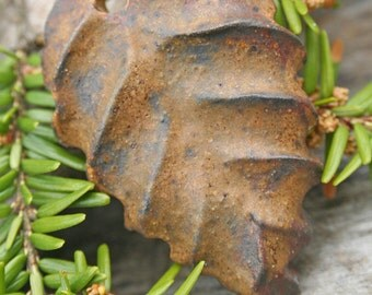 Handmade Ceramic Leaf Charm