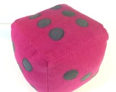 Clean Up Game Fleece Dice Pillow - READY TO SHIP