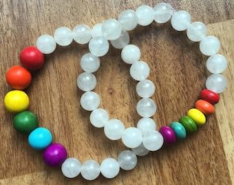 Rainbow Crystal Chakra Bracelet