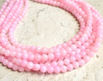 The Michelle- Light Pink Jade Statement Necklace