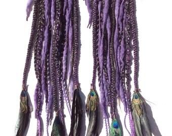 Black and Purple set of falls- CUSTOM MADE