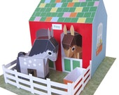 Printable Pony Playset PDF Paper Craft