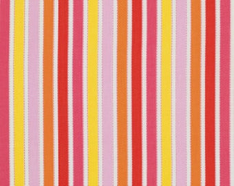 Shelby in Pink, Yellow Orange, RED,  / 1/2 yard of Pretty Little Things  by Dena Designs /  1/2 Yard Cotton Quilt Fashion Fabric