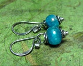 Ocean Blue - Apatite and Sterling Silver Earrings