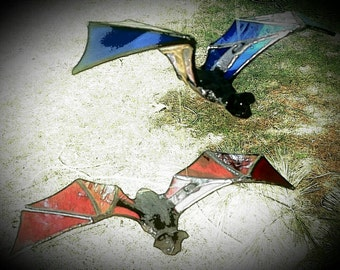 Stained Glass Flying Bat - made in your choice of color!~