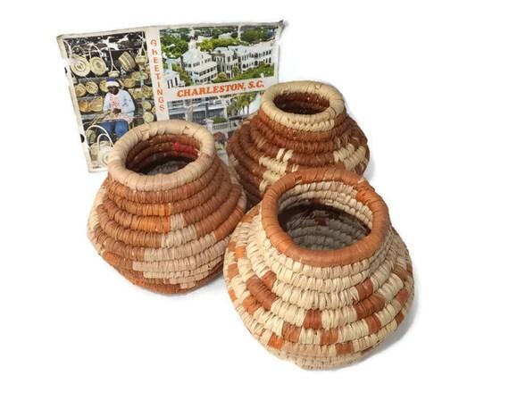 Handmade Baskets In Charleston : Vintage sweetgrass baskets charleston south carolina