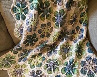Crochet Afghan, Crochet Lapghan, Blanket, Crocheted Throw