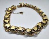 Gold Filled Elco Heart Vintage Bracelet - Gold Filled Jewelry- Estate Jewelry Gift