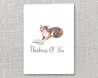 Thinking Of You Printable Notecard Instant Download PDF