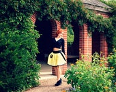 HUFFLEPUFF Mini Skirt - Black Elastic Waist with Patch and Wand Pocket - SMALL