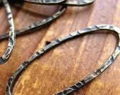 Blackened Brass Slender Oval Links - 1 pair