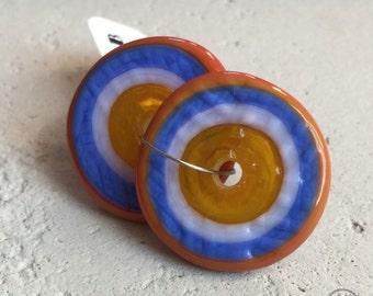 Textured Discs - Yellow, Periwinkle, and Orange