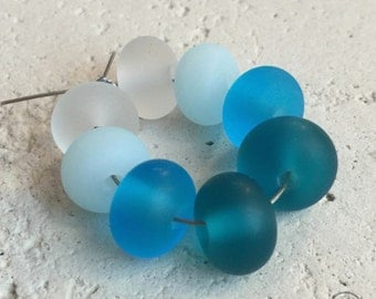 Round Spacers - Pairs in Teal, Blues, and Clear