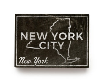 "Gift for Dad- New York City State Art Box- 5""x7"" NYC Print- New York Gifts- New York Art- New York State Print- NYC Gifts- New York Print"