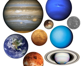 Planets of Our Solar System Vinyl Wall Decal Set