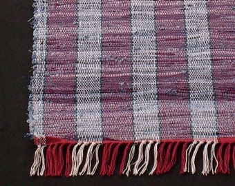 Rag Rug BlueJean and Hot Red