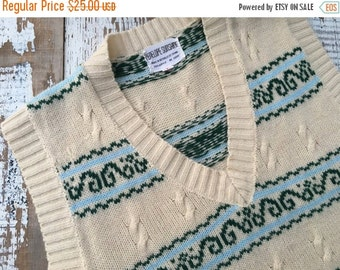 40% FLASH SALE- Vintage Sweater Vest-Penelope Sunshine