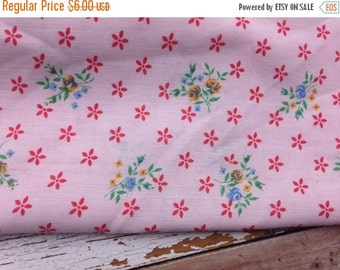 40% FLASH SALE- Spring Floral Fabric-Lightweight-Cotton Blend